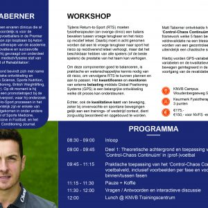 Flyer Voetbalmedische Workshop 2020