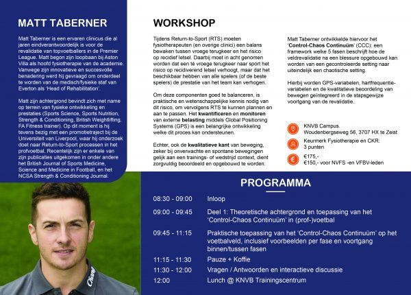 Flyer Voetbalmedische Workshop 2020